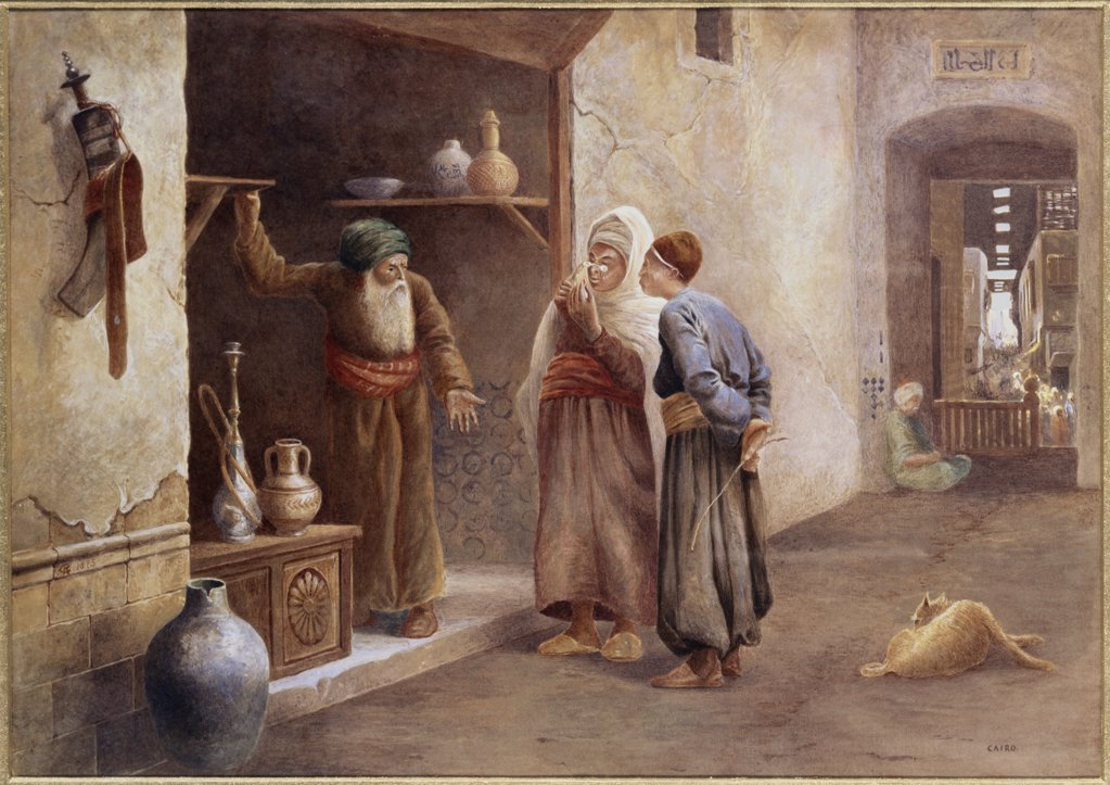 Stock Photo: 866-3808 Arab Traders, Cairo 