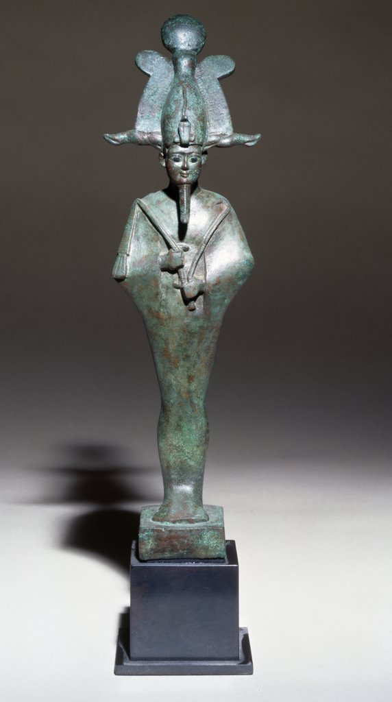 Stock Photo: 866-3960 Bronze figure of Osiris with Atef-Crown, England, London, Christie's Images, Egyptain Art