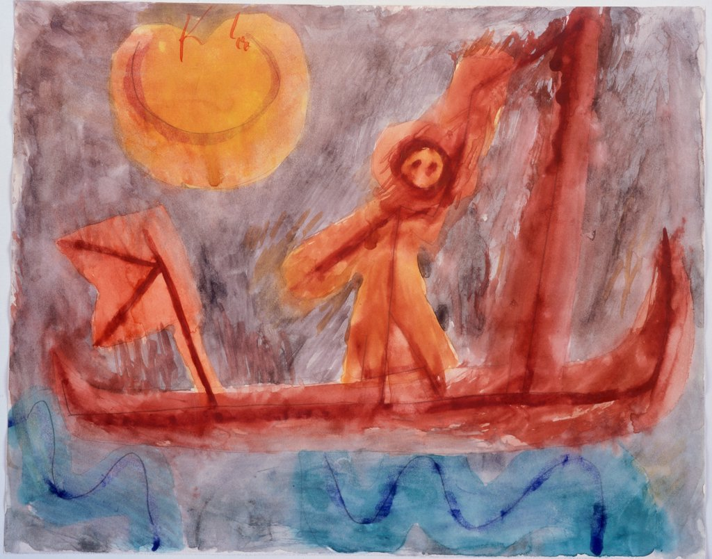 Abfahrt Des Abenterirers 1939 Paul Klee  (1879-1940/Swiss) Pencil and watercolor Christie's, London  : Stock Photo