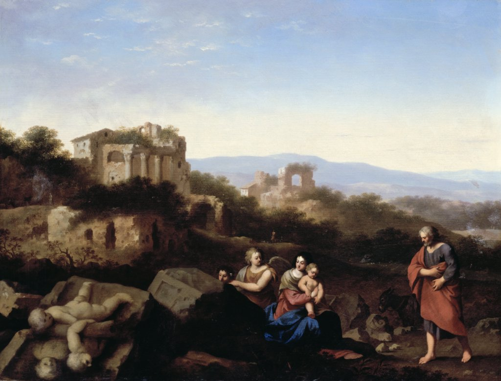 Stock Photo: 866-4075 Rest On The Flight To Egypt, The 