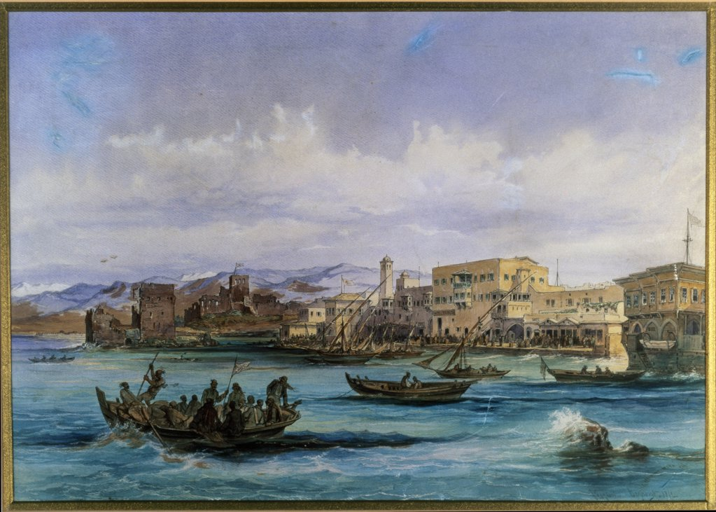 Stock Photo: 866-4124 Beirut From The Sea 