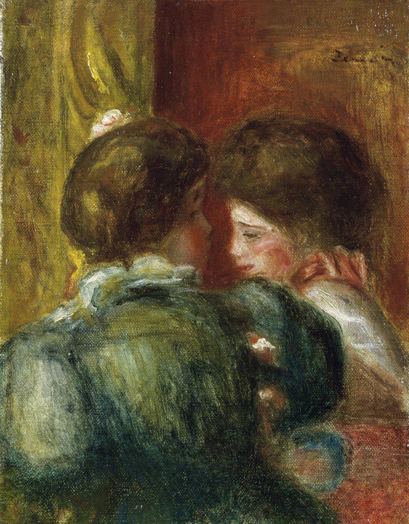 Stock Photo: 866-4139 Deux Tetes de Femmes, or La Loge  Pierre Auguste Renoir (1841-1919/ French) Oil on Canvas