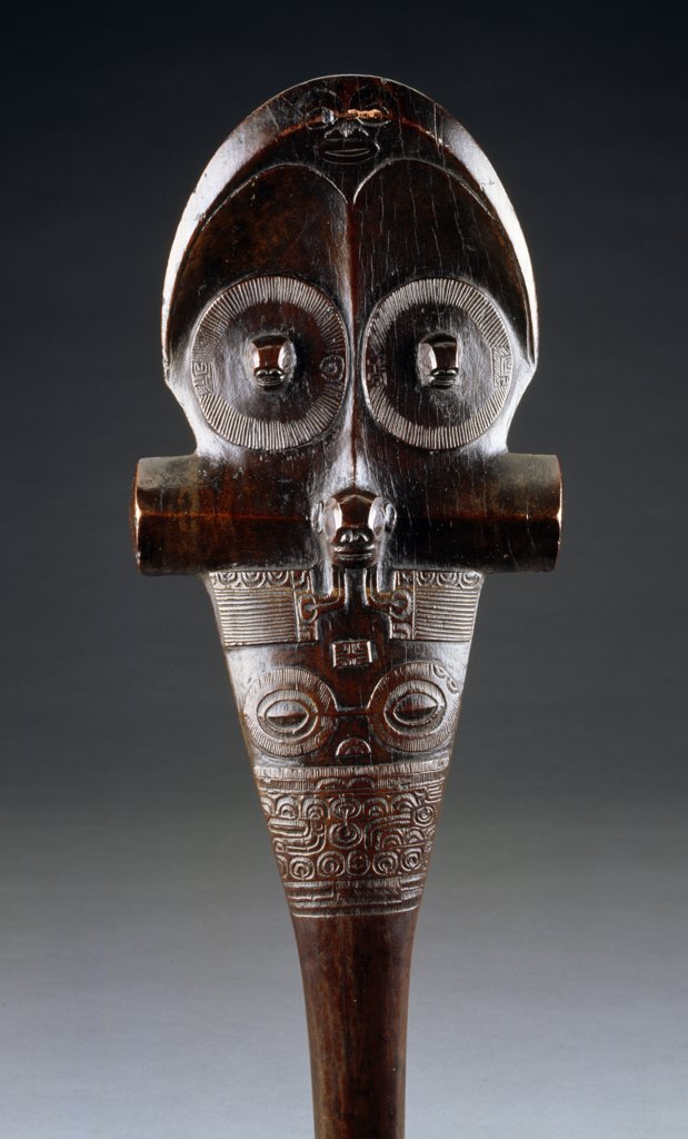 Stock Photo: 866-4187 Marquesas Islands war club, made from Toa Wood, England, London, Christie's Images, Primitive Art