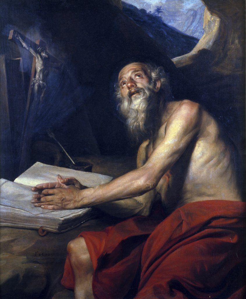 Stock Photo: 866-4210 The Vision of Saint Jerome, by Juan Martin Cabezalero, 1660, oil on canvas, (1633-1673), England, London, Christie's Images