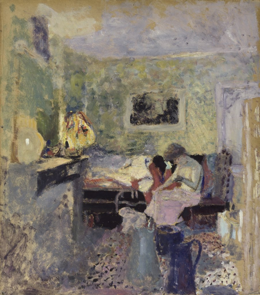 The Green Room  (La Chambre Verte)  Edouard Vuillard (1868-1940 /French)   Oil on Paper    : Stock Photo
