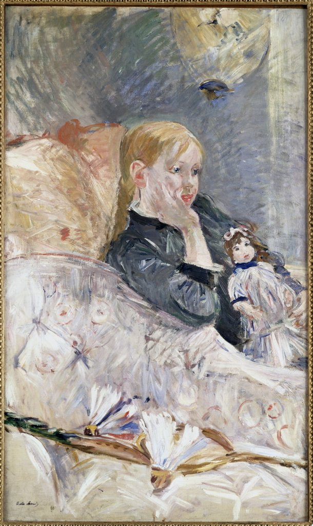 Stock Photo: 866-4227 Little Girl with a Doll 