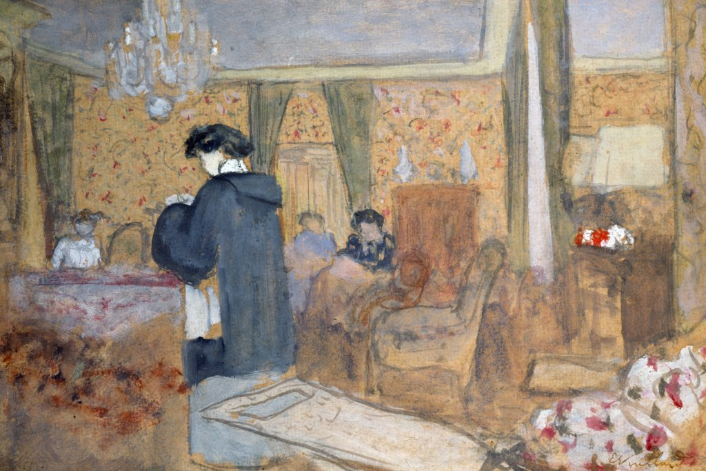 Stock Photo: 866-4280 Le Salon a 'La Terrasse' a Vasouy, by Edouard Vuillard, (1868-1940), England, London, Christie's Images
