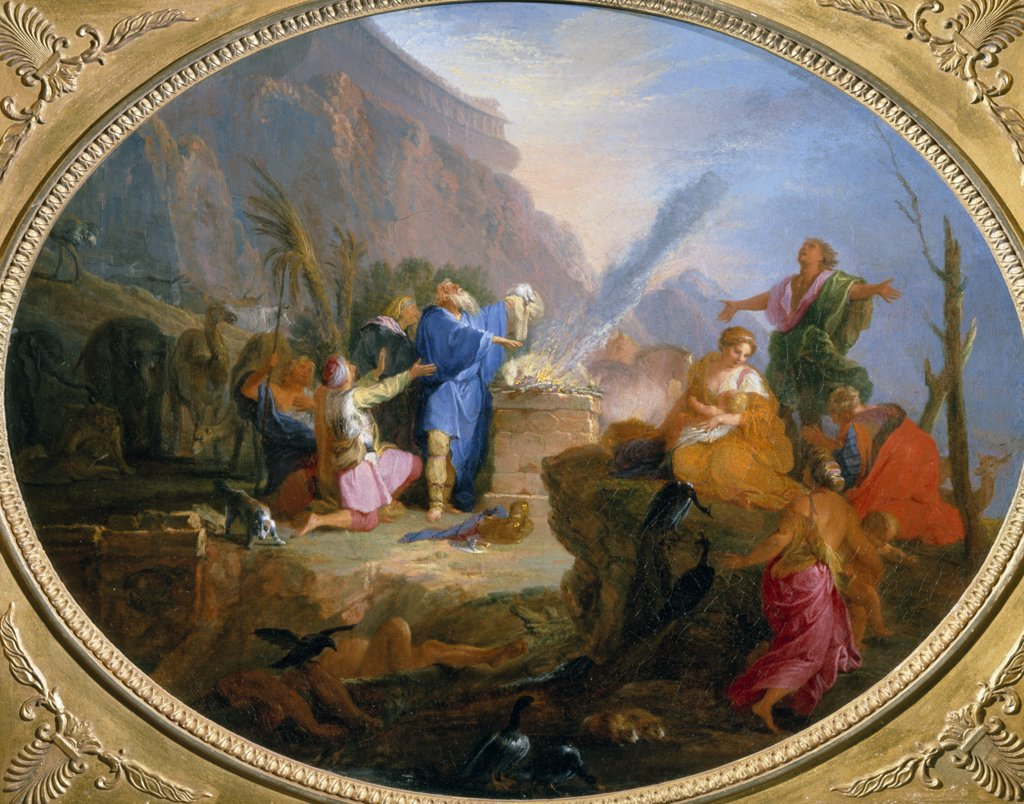 Stock Photo: 866-4335 Sacrifice of Noah by Nicolas Bertini, oil on canvas, (1667-1736), UK, England, London, Christie's Images