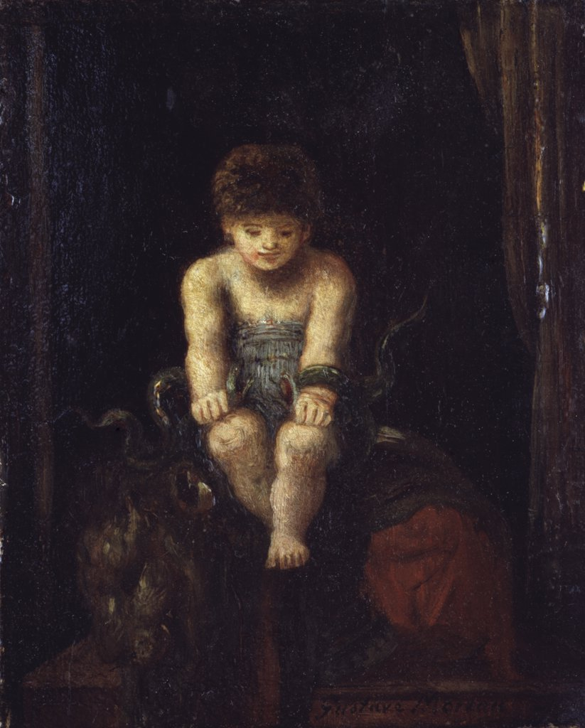 Stock Photo: 866-4394 Hercules as a Child Strangling the Serpents