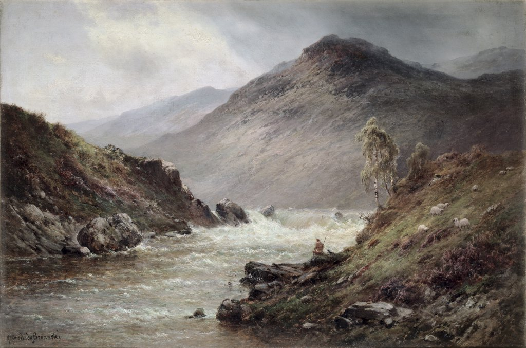 The Upper Falls Of The Clyde N B