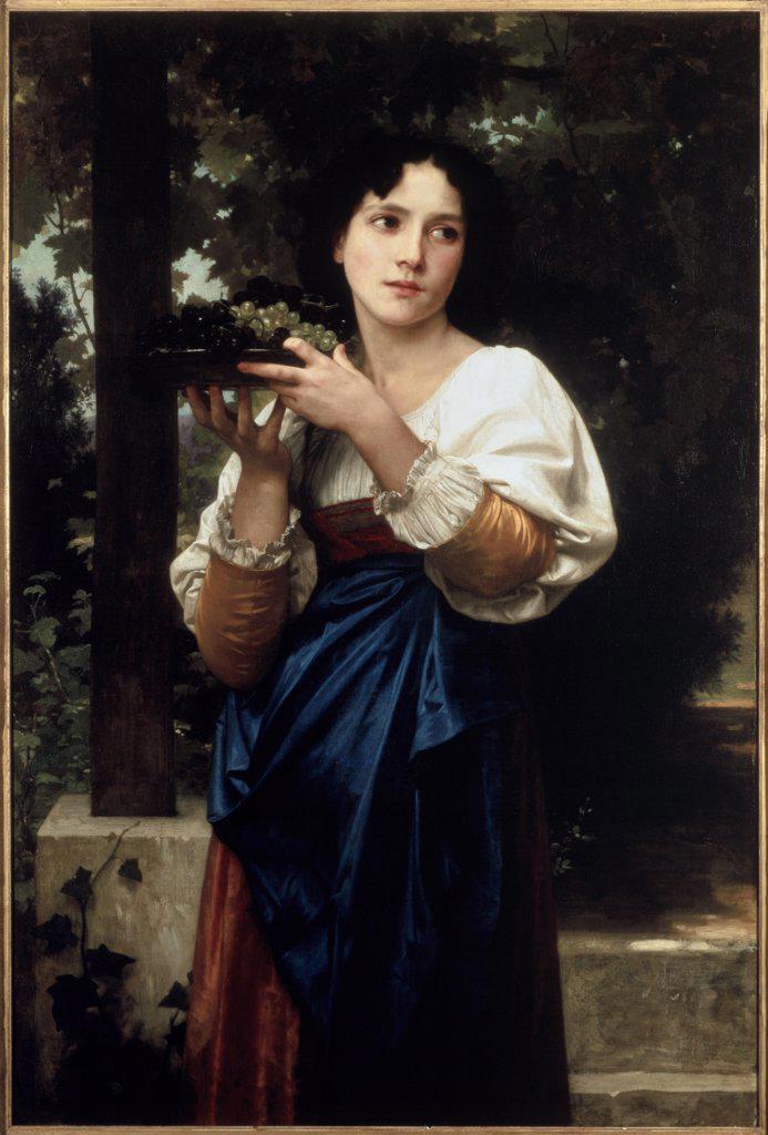 La Treille  William-Adolphe Bouguereau (1825-1905 French) Christie's, London  : Stock Photo