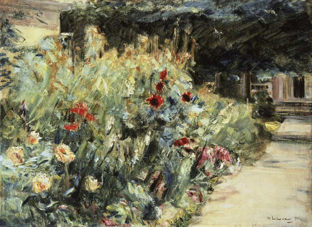 Stock Photo: 866-4560 Flower Bed in the Artist's Garden at Wansee 