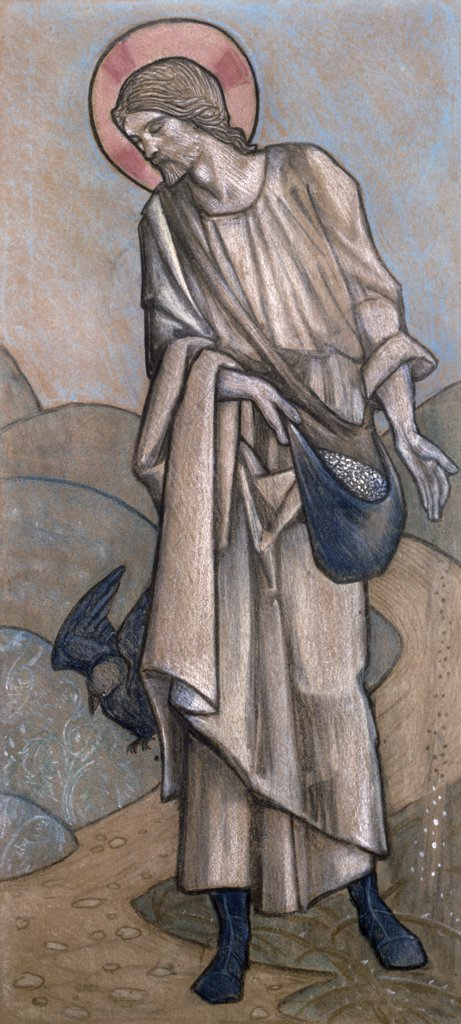 Stock Photo: 866-4634 Sower, Design for Stained Glass at Brighouse Yorkshire by Edward Burne-Jones, illustration, (1833-1898)
