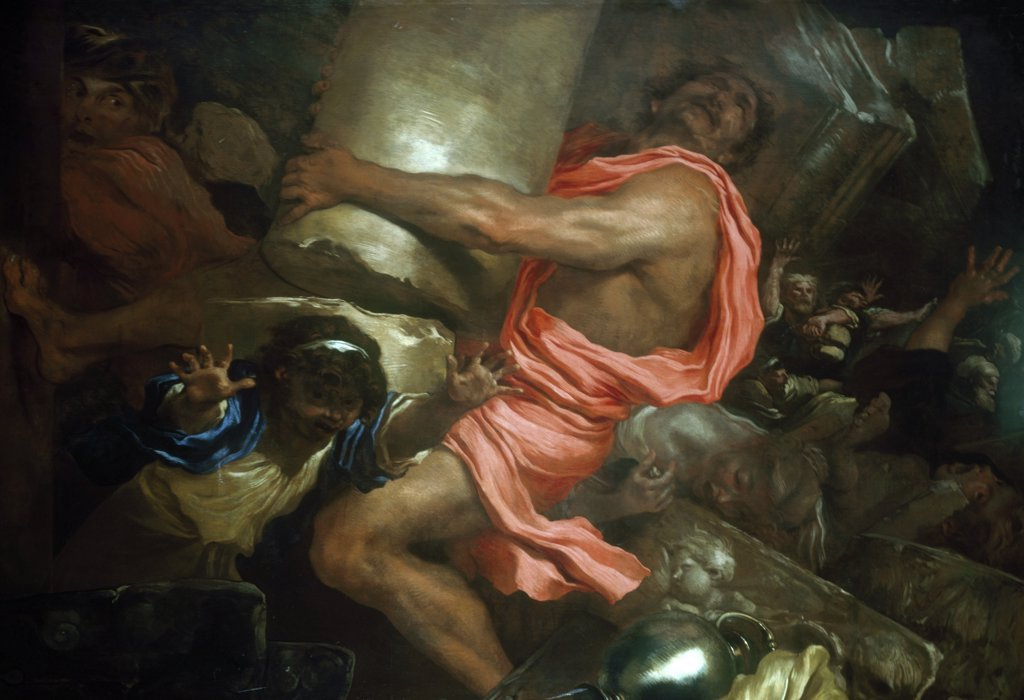 Stock Photo: 866-4686 Samsom Destroying The Temple Of The Philistines 