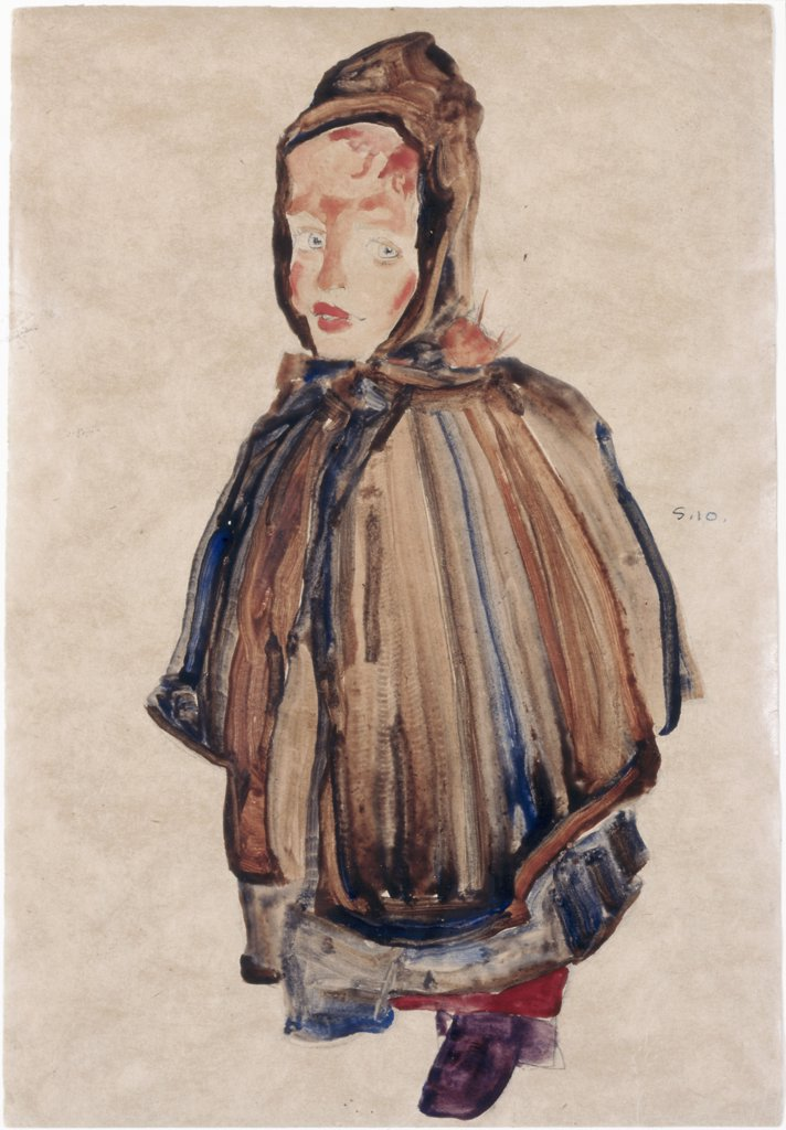 Stock Photo: 866-4708 Madchen Mit Haube 1910 Egon Schiele (1890-1918/Austrian) Christie's Images