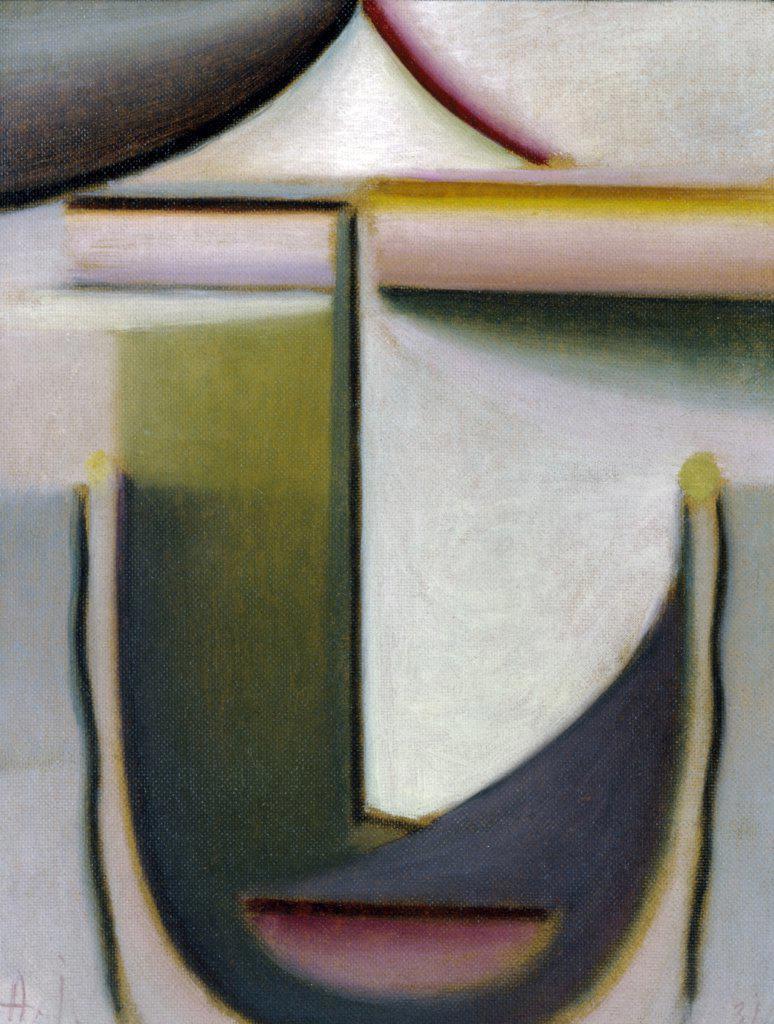 Stock Photo: 866-4739 Abstrakter Kopf: Abend  1931 Alexej von Jawlensky (1867-1941Russian) Oil on cardboard