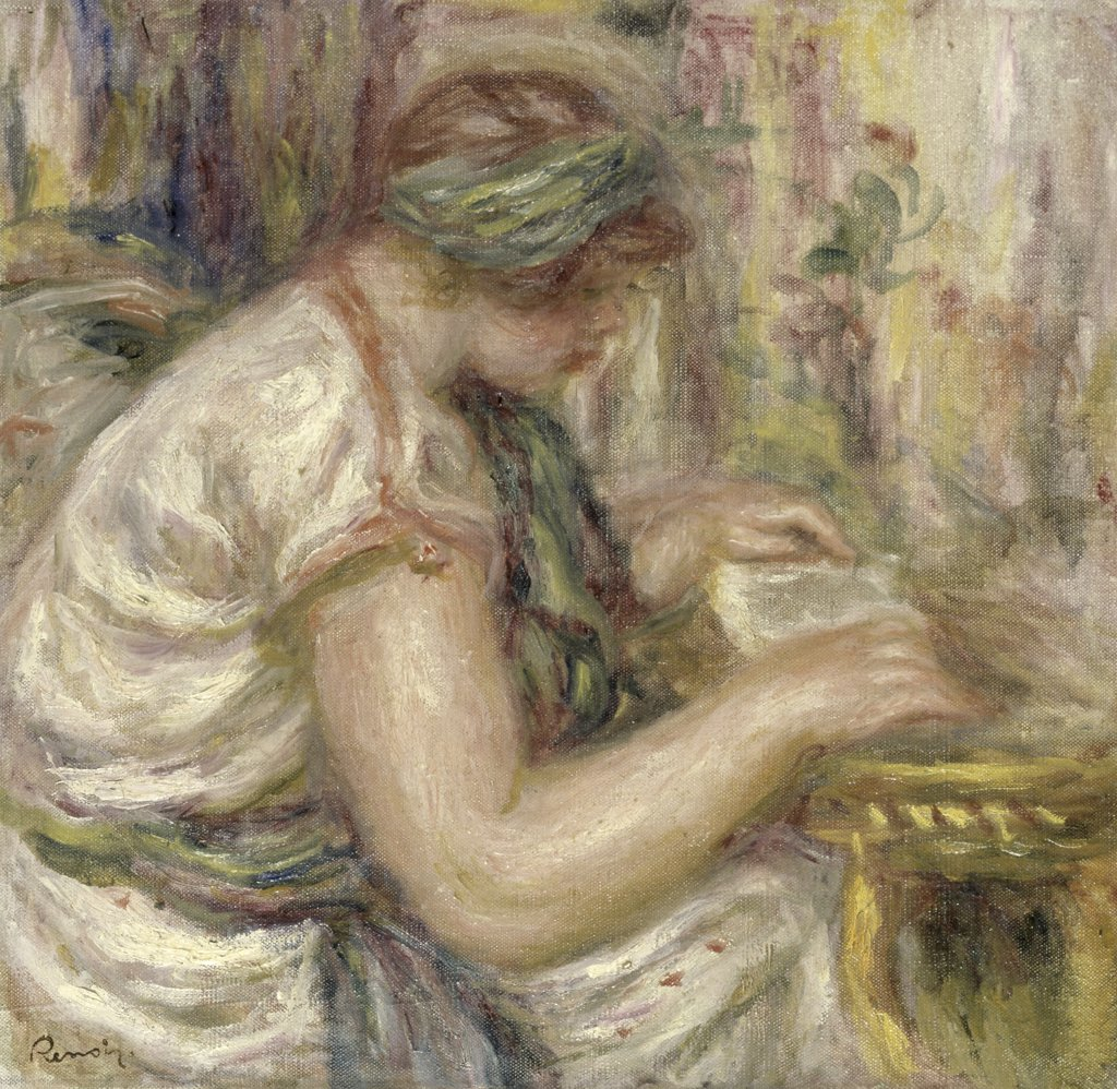 Woman in an Arabian Blouse Reading 
