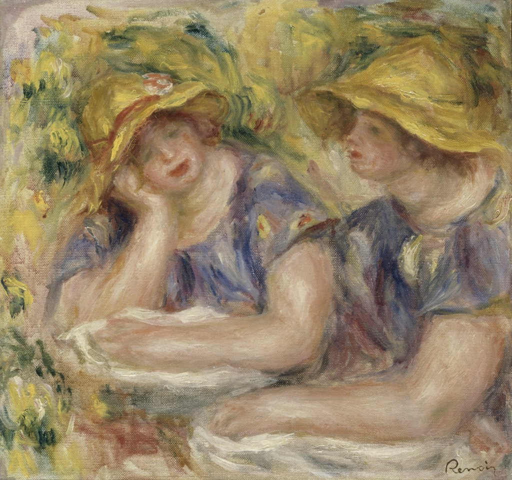 Stock Photo: 866-4770 Two Women in Blue Blouses 