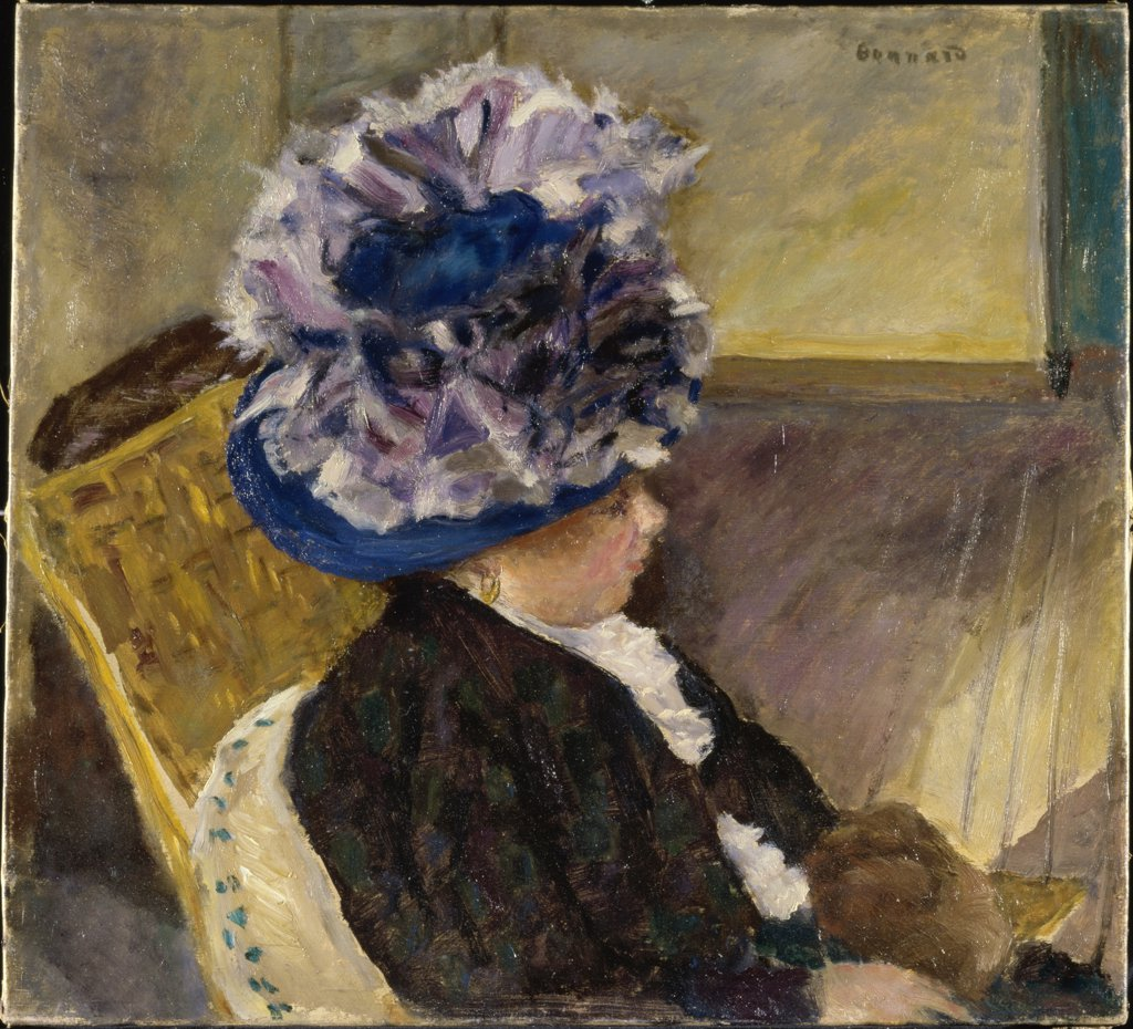 Young Woman in a Blue Hat 