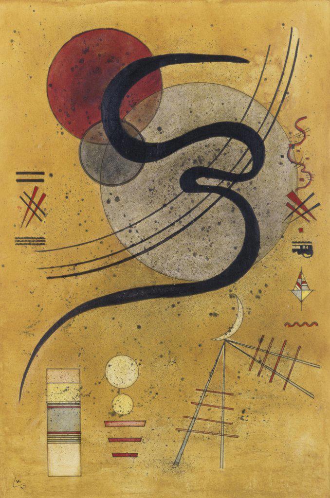 Stock Photo: 866-4780 Launelinie 1927  Vasily Kandinsky (1866-1944 Russian)