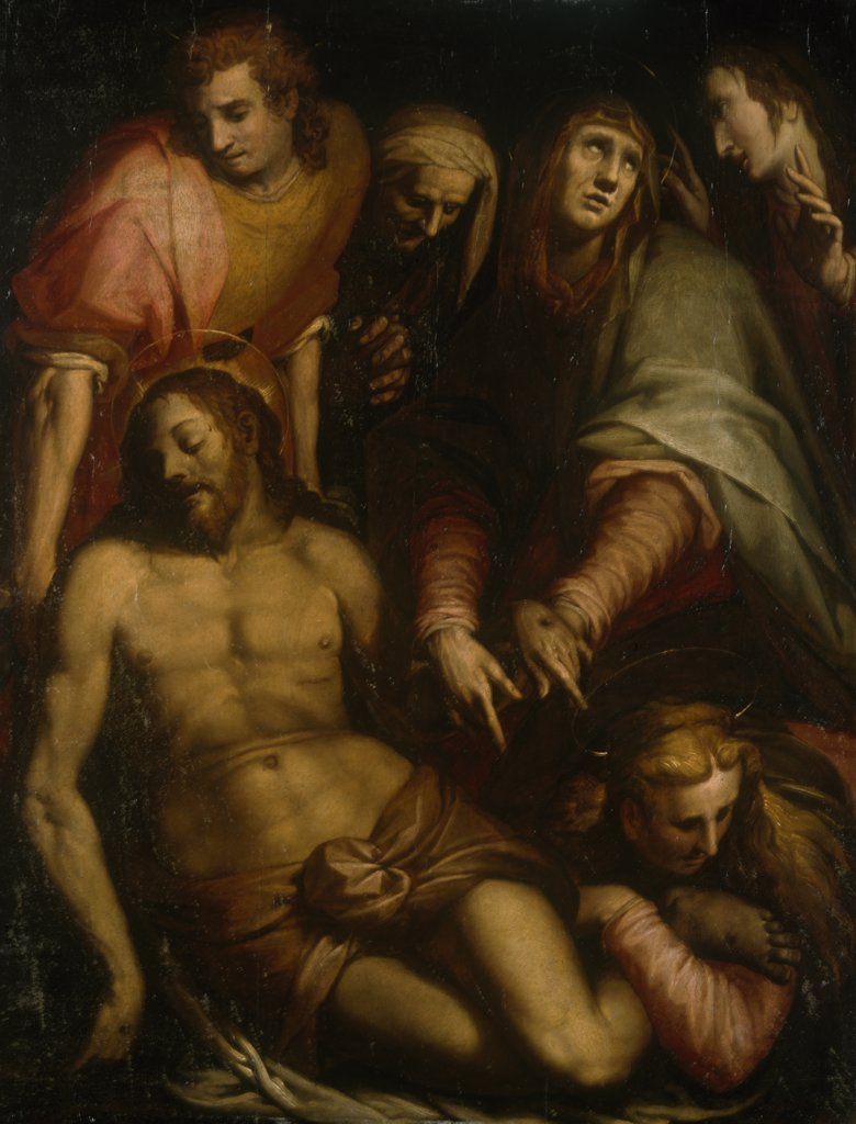 Stock Photo: 866-4792 Lamentation by Giovanni Battista Naldini, painting, (c. 1537-1591), UK, England, London, Christie's Images