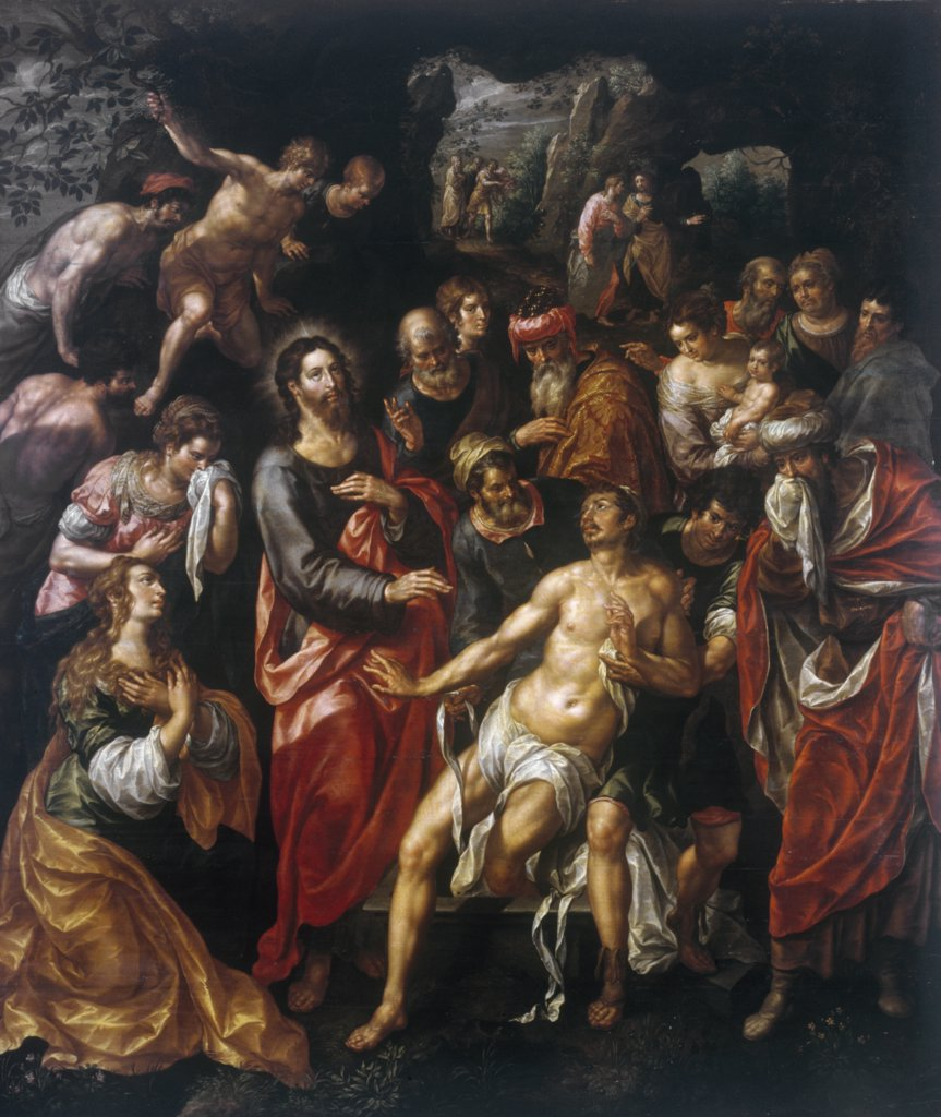 Raising of Lazarus by Hendrick de Clerck, painting, (c. 1570-1629), UK, England, London, Christie's Images : Stock Photo