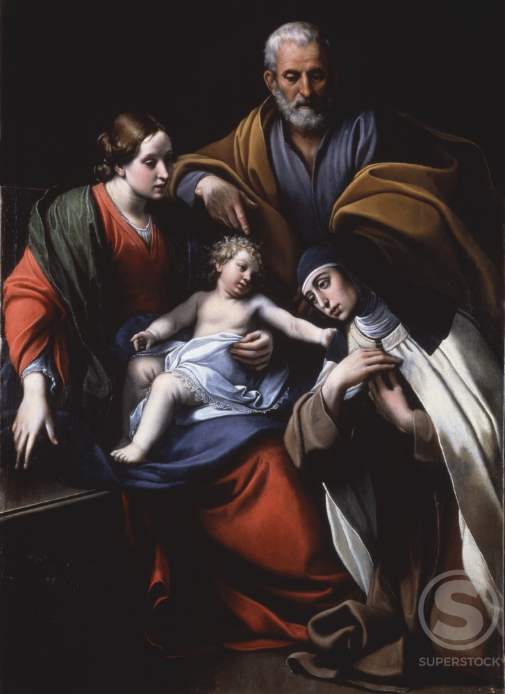 Stock Photo: 866-4851 The Holy Family with Saint Theresa of Avila 