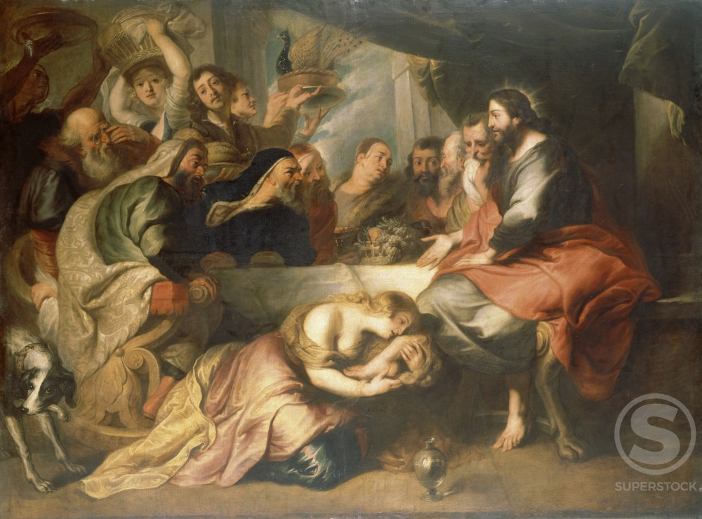 Stock Photo: 866-4861 Christ in the House of Simon the Pharisee
