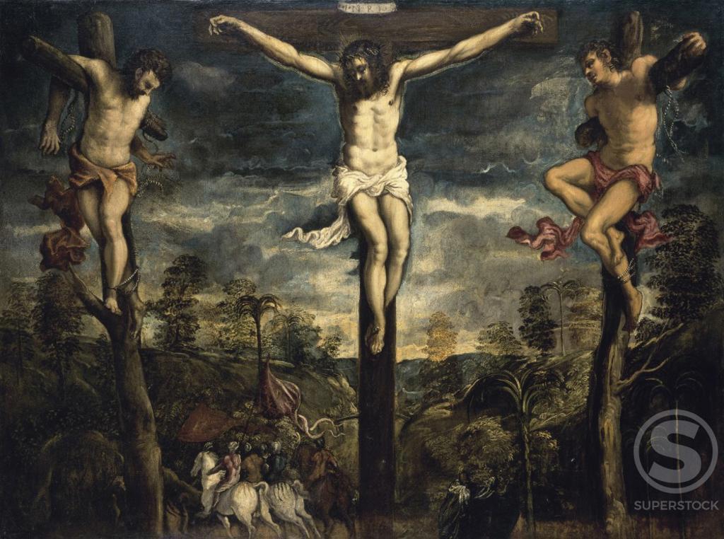 Stock Photo: 866-4889 The Crucifixion  Jacopo Tintoretto (1518-1594/Italian)  Christie's Images