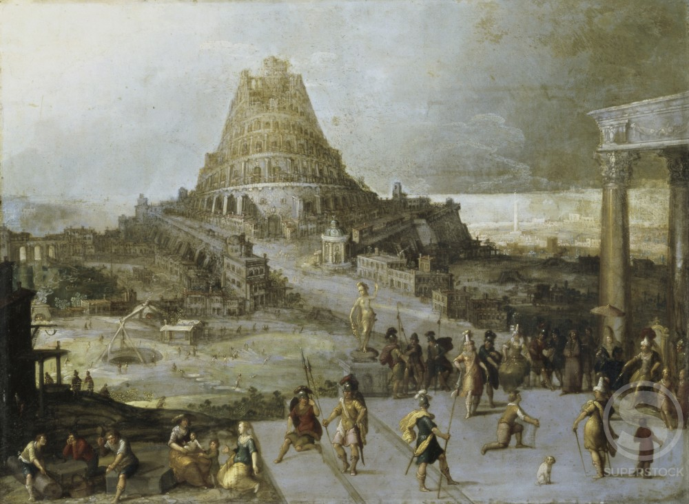 Stock Photo: 866-4918 Nimrod Ordering the Construction of the Tower of Babel 