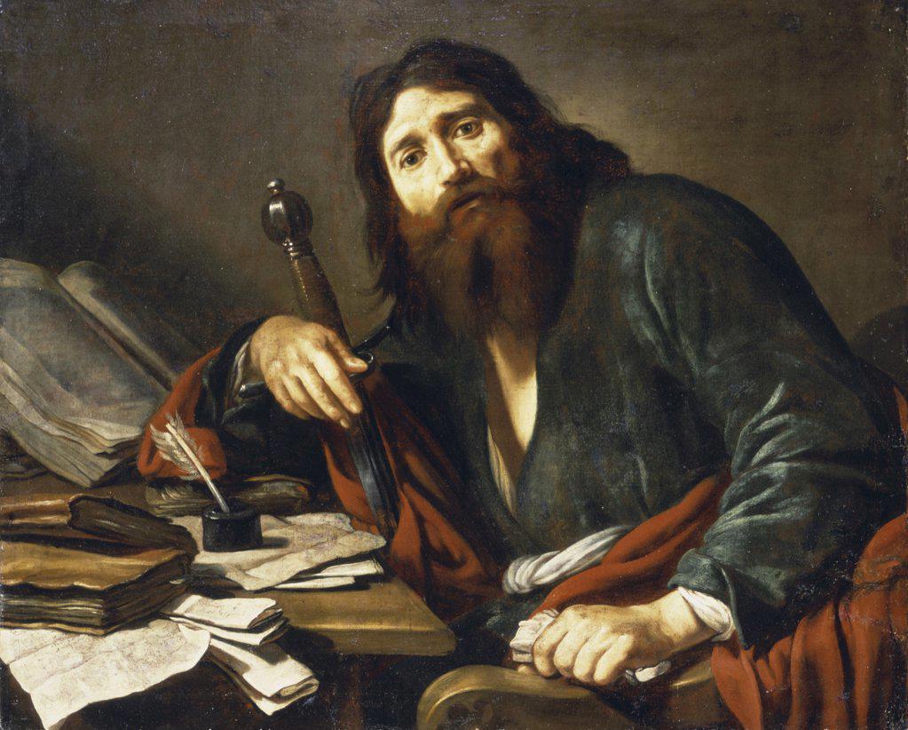 Stock Photo: 866-4920 Saint Paul  Claude Vignon (1593-1670/French)  Christie's Images