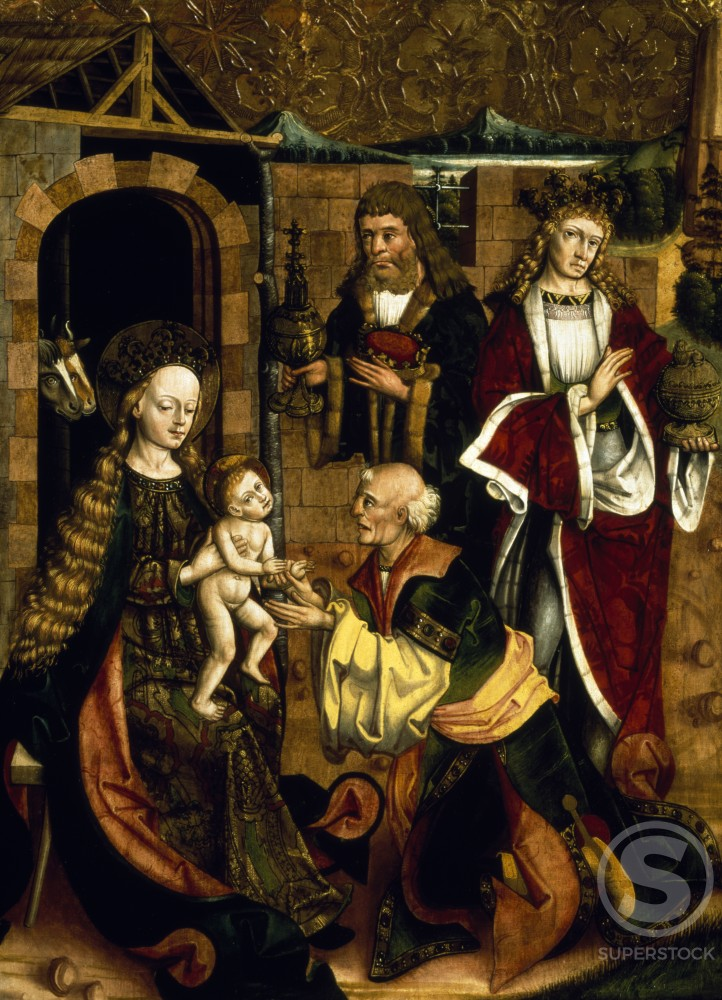 Stock Photo: 866-4929 Adoration of Magi, Attributed to Master Martinus