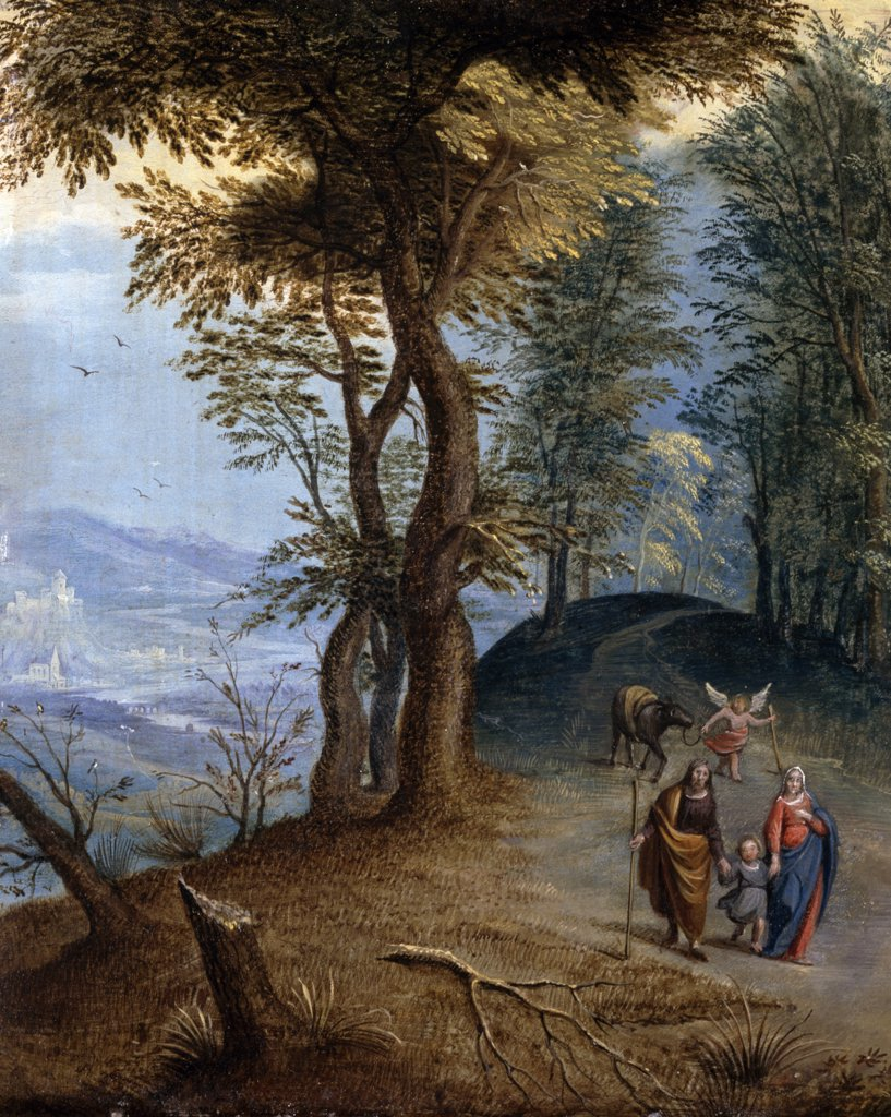 Stock Photo: 866-4931 Return from Egypt by Follower of Jan Brueghel the Elder, painting, (17th C.), UK, England, London, Christie's Images