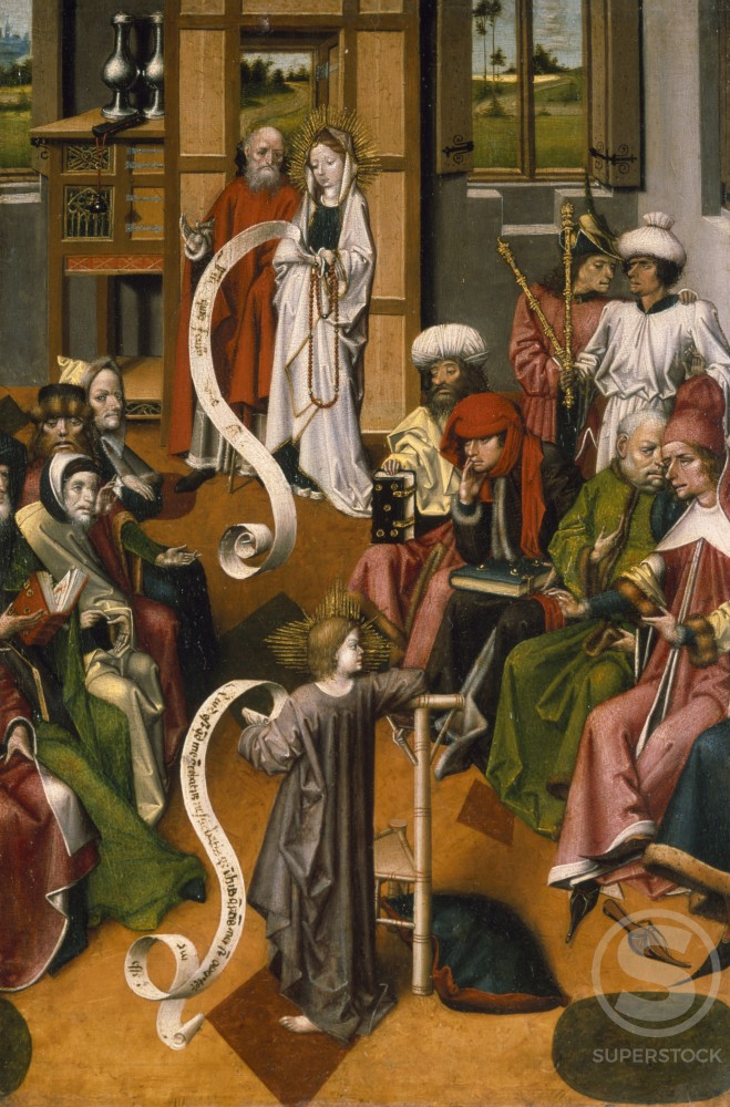 Stock Photo: 866-4938 Presentation in Temple by Master of Iserlohn (c.1450 ), painting, UK, England, London, Christie's Images
