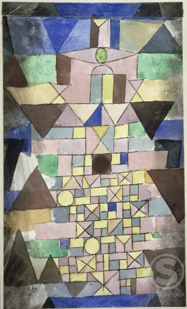 Stock Photo: 866-5026 Composition with Triangles 