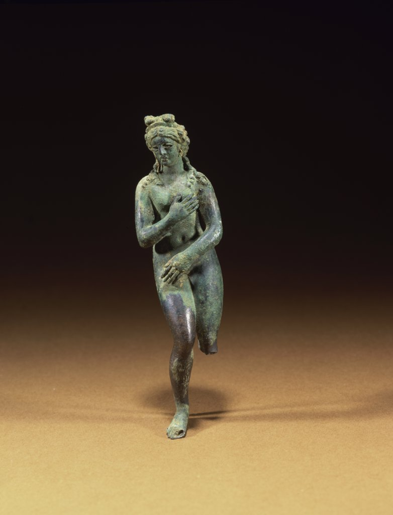 Stock Photo: 866-5030 A Roman Bronze Figure of Aphrodite