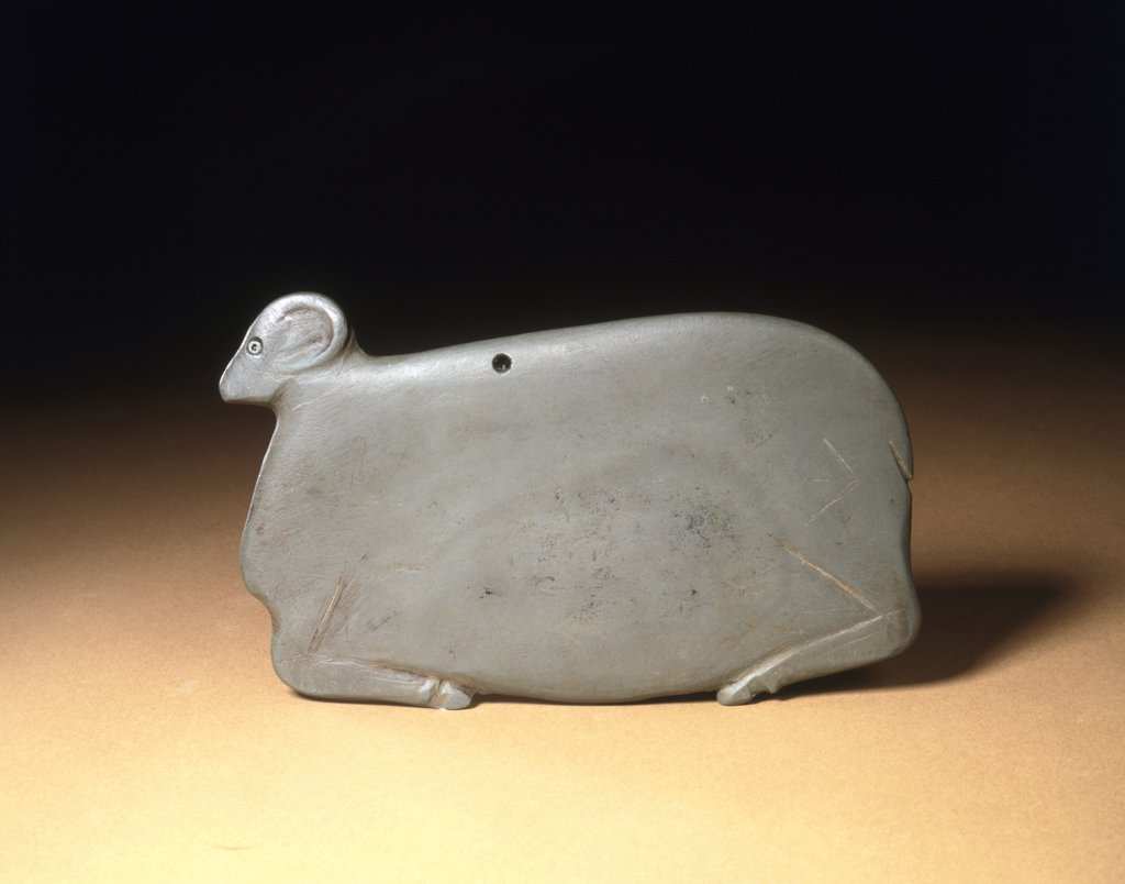 Predynastic Slate Palette In The Form Of A Recumbent Ram