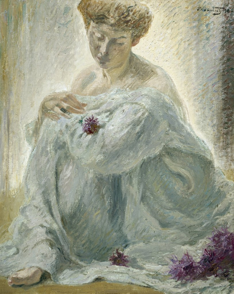 Stock Photo: 866-5129 Woman and Chrysanthemums