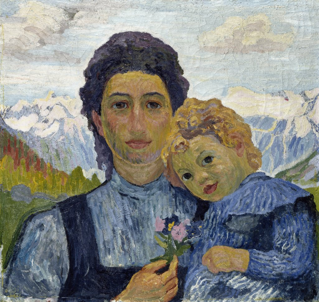 Stock Photo: 866-5135 Annetta And Alberto c.1904 Giacometti, Giovanni (1868-1933)Swiss Oil On Canvas Christie's Images, London, England