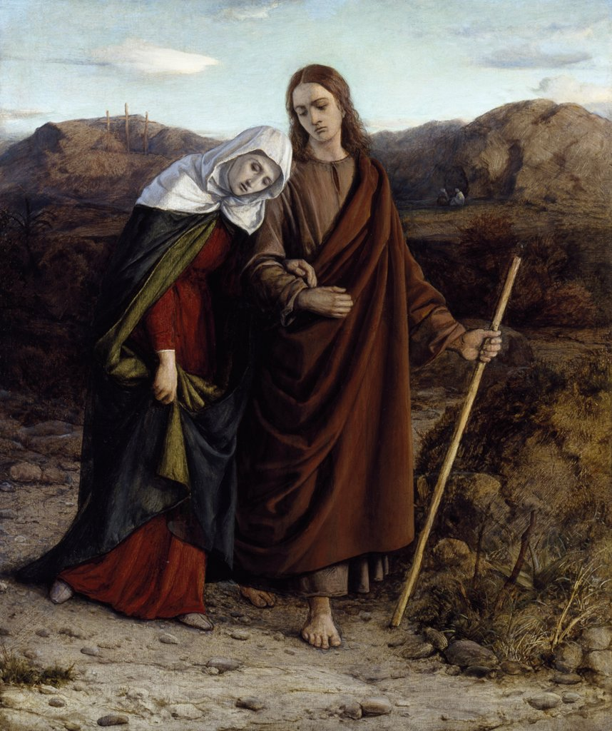 Stock Photo: 866-5176 St. John Leading Home His Adopted Mother 