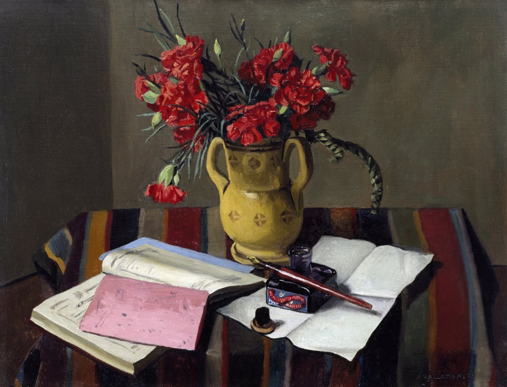 Stock Photo: 866-5184 Oeillets Et Livre De Comptes 