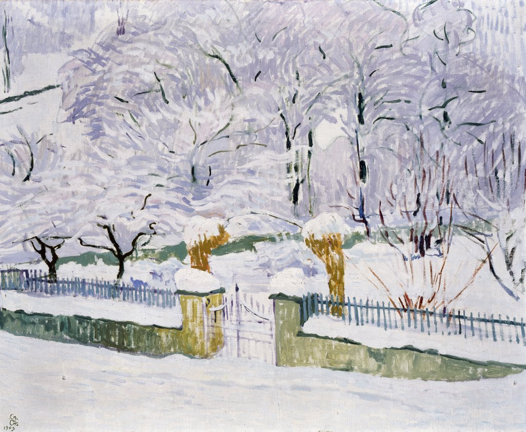 Stock Photo: 866-5186 Garden In The Snow