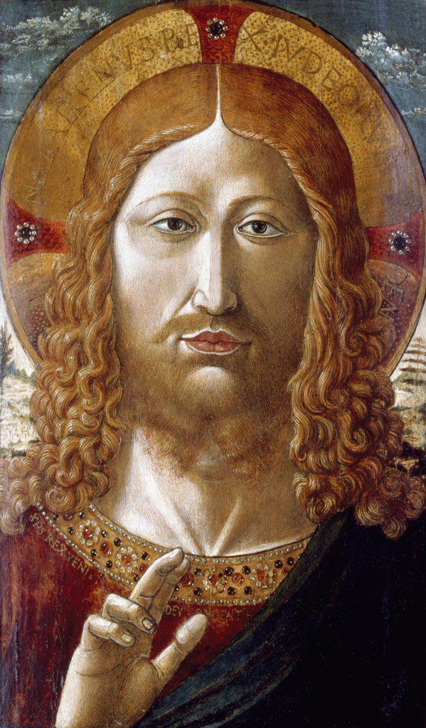 Stock Photo: 866-5207 Salvator Mundi  Gozzoli, Benozzo(1420-1497 Italian) Christie's Images, London, England