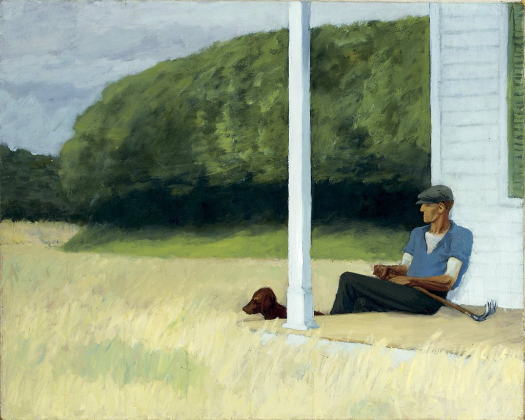 Stock Photo: 866-5388 Clamdigger ca. 1935 Edward Hopper (1882-1967 American) Oil on canvas