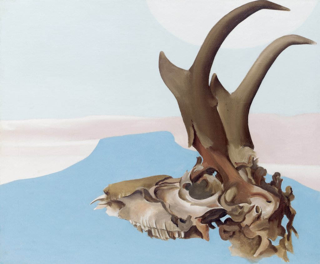 Stock Photo: 866-5432 Antelope Head with Pedernal Georgia O`Keeffe (1887-1986 American) Oil on canvas