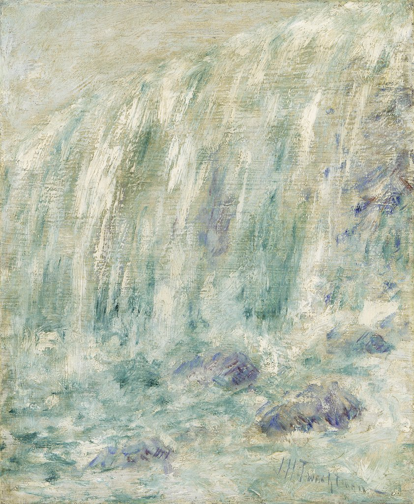 Stock Photo: 866-5435 Niagara Falls John Henry Twachtman (1853-1902 American) Oil on canvas
