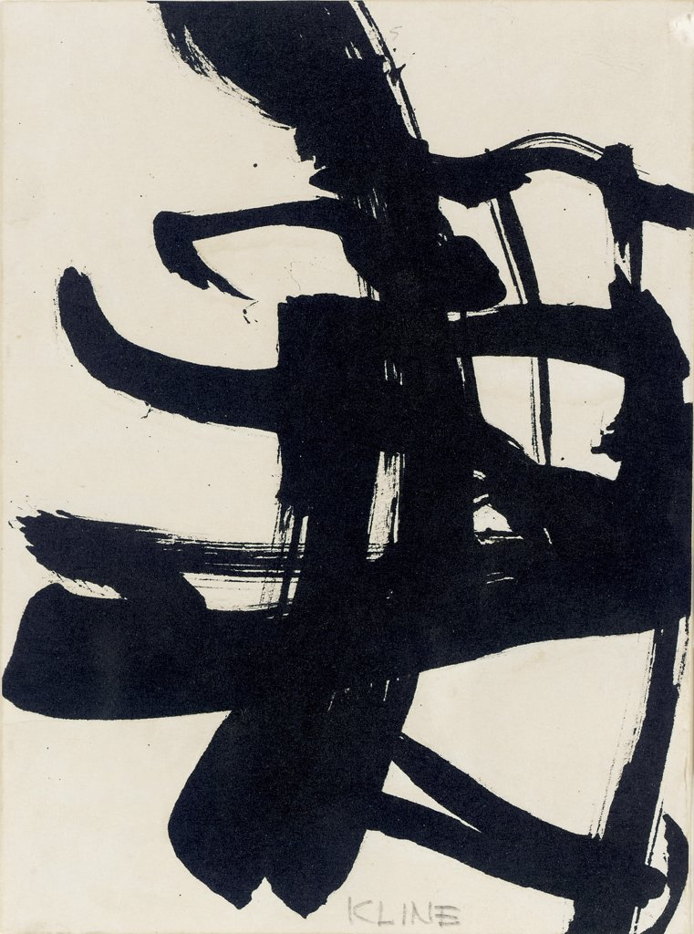 Untitled 1950 Franz Kline (1910-1962 American) Ink on paper : Stock Photo