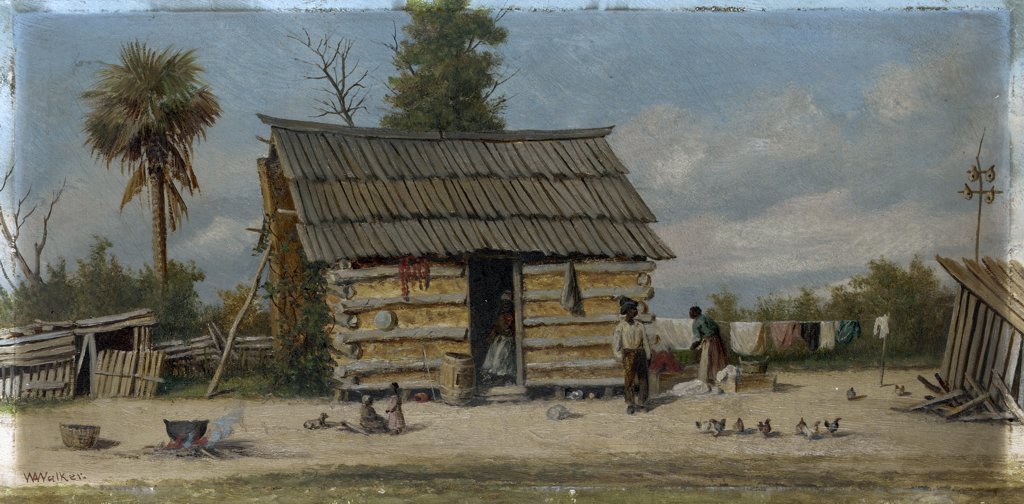 Stock Photo: 866-5545 Wash Day William Aiken Walker (1838-1921 American) Oil on board