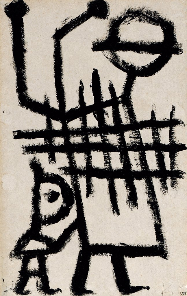 Ein Strassenmusiker Paul Klee (1879-1940 Swiss) Tempera : Stock Photo