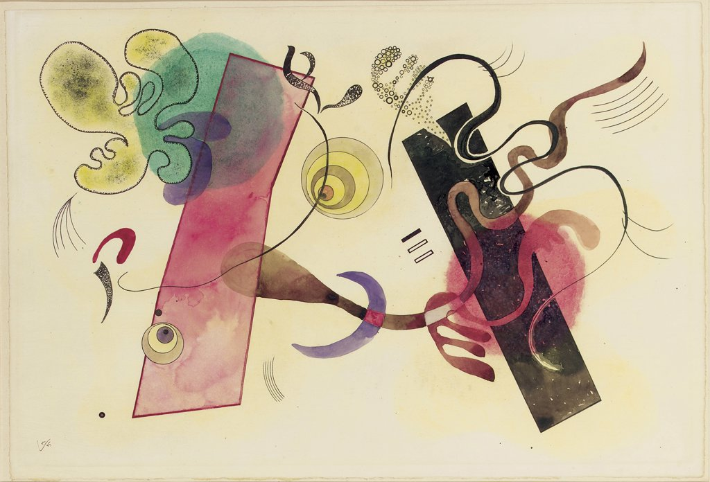 Stock Photo: 866-5626 Flachen und Linien Vasily Kandinsky (1866-1944 Russian) Watercolor & pencil on paper